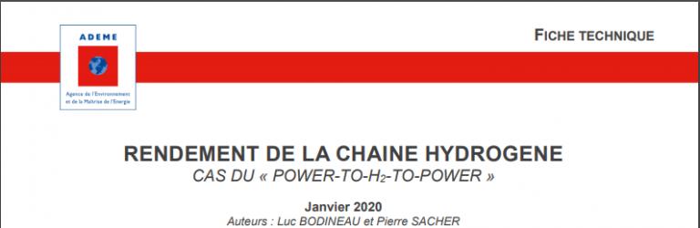 RENDEMENT DE LA CHAINE HYDROGENE