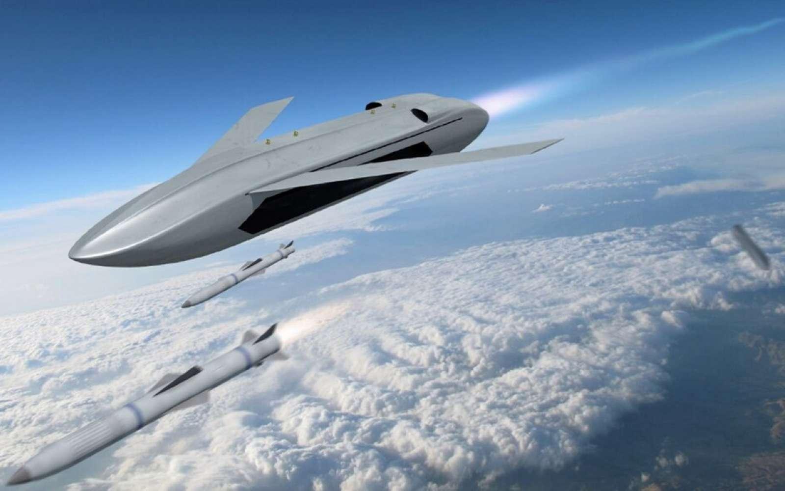 L'US Army prépare un avion de combat qui lance un drone qui lance des missiles