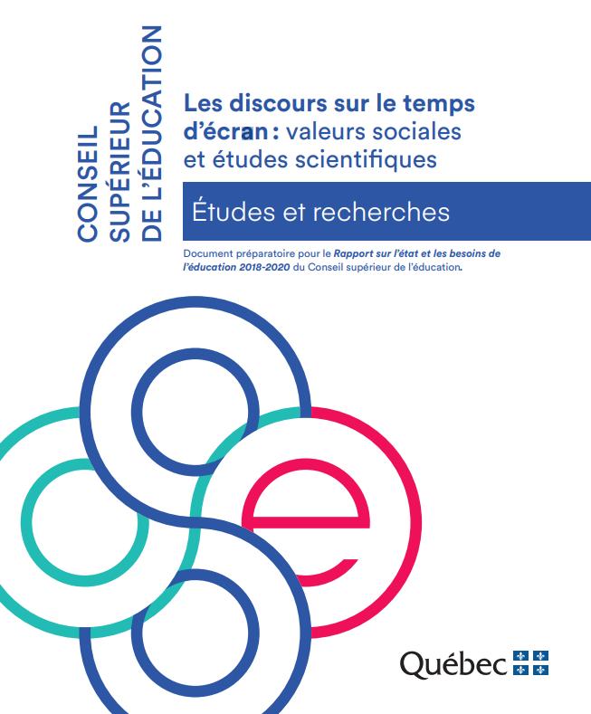 Les discours sur le temps d'écran: valeurs sociales et études scientifiques