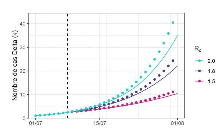 Variant Delta : les scénarios pessimistes de l'Institut Pasteur pour les mois à venir